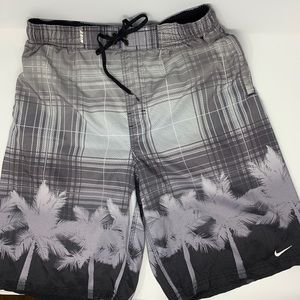 Men's Nike Palm Tree Swim Trunks Bathing Suit
